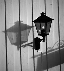 light and shadows (EllaH52) Tags: wall lines texture light shadows streetlight lamp greyscale monochrome blackwhite minimalism