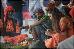 India Travel Photography: Aarti Ceremony, Nada Sadhus & burning Ghats at Varanasi 2019 Benares.026 by Hans Hendriksen (Travel Photography - Reisfotografie) Tags: india travel photography uttar pradesh north noord crowd reisfotografie reisfoto varanasi cremation ghat ghats benares banāras kashi kasi 2019 bad baden bath snan bathing people planet naked naakt naga sadhu saddhu baba nackt hindu hindus hindoe hindoes ganga gangus ganges river rivier march holy heilig sacred ceremony ceremonie religion religie nude dahues babas pelgrims pilgrimage pilgrims bedevaart menigte hindúes sagrado río aarti fire vuurceremonie burning manikarni manikarnika dead reincarnation reincarnatie afterlife