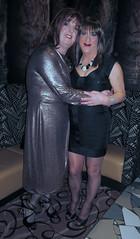Me and my lovely friend Lesley xx (janegeetgirl2) Tags: transvestite crossdresser crossdressing tgirl tv ts trans jane gee leeds first friday lff bronze dress high heels