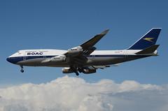 British Airways BOAC Retro Livery 747-436 (G-BYGC) LAX Approach 5 (hsckcwong) Tags: britishairways britishairwaysboacretrolivery boacretrolivery gbygc lax klax 747436 747400 744