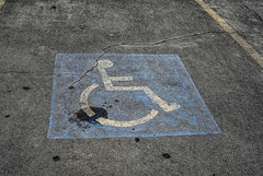 Handicapped Sign (☼☼ Jo Zimny Photos☼☼) Tags: odc hittheroadjack roads handicappedsign white blue
