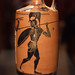 Athenian Black Figure lekythos with pyrrhic dancers, 3