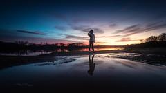 Pose sunset (Stéphane Sélo Photographies) Tags: ain canon1740f4 canon6dmarkii france trã©voux aqua coucherdesoleil eau landscape lumiã¨re ombres paysage reflet riviã¨re silhouette sunset water
