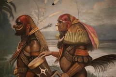 Early painting of New Guinea tribesmen (quinet) Tags: 2017 amsterdam antik marindanim netherlands petervertenten tropenmuseum ancien antique museum musée