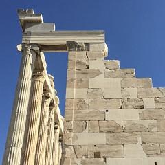 parthenon (kamphora) Tags: square parthenon acropolis blue sky ancient ruin athens greece marble honeymoon 2015