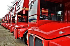 Lovely line up...... (stavioni) Tags: lt london transport aec park royal red routemaster double decker bus rm rml brooklands museum rm1933 rm1527 rm597 rm1400 rm848 rm1699 rm349 rm1859 rm2208 rm158 rml2412