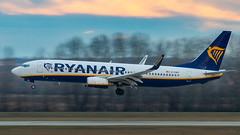 Panning (keriarpi) Tags: lhbp bud ferihegy spotter spotting spotterdomb domb jet airplane aircraft plane airline airlines cockpit sky livery grass tree forest panning svenk 31r airways eidwy ryanair boeing 7378aswl 737 738 737800