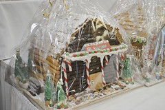 Gingerbread House Decorated by Gift Shop (NottawasagaResort) Tags: nottawasagaresort nottawasaga nottawasagainn nottawasagainnresort inn resort hotel raffle humane society gingerbread gingerbreadhouse candy house chocolate frosting christmas charity alliston allistonontario donation staff event dogs cats pets sugarplumfair sugar plum fair spf barbie cookie monster local animals