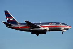 N275AU Orlando 11-11-1991 (Plane Buddy) Tags: n275au boeing 737 usair mco orlando
