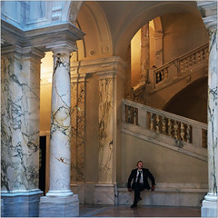 Waiting for You (pixel_unikat) Tags: museum vienna weltmuseum austria man column hall light exhibition marmor architecture