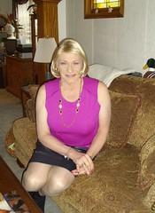 I Am Just A Simple Girl With Simple Tastes (Laurette Victoria) Tags: mini skirt blonde necklace laurette woman