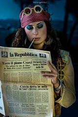 Correva l'anno... (marcello.machelli) Tags: humanavintageroma 70 anni70 fashion moda 70ies settanta nicolesgueglia nikon portrait nikond810 ritratto news caracter seventies italy italia hippy femminista sinistra protesta