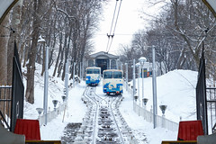 Kiev funicular on the way