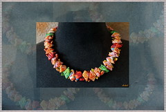 POLYCHROMATIC (Fimeli) Tags: polyclay polymerclay necklace halskette colors multicolors farben perlen beads handmade handwork