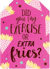 Postcrossing NL-4343682 (booboo_babies) Tags: pink exercise fries funny fun cute postcrossing