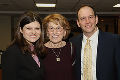 Rep. Haley Stevens with Micki Grossman and Eric Bronstein
