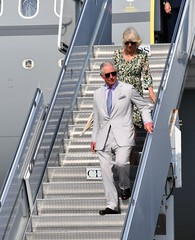 HRH & HerRH Arrive (Cayman Islands Government Information Services) Tags: cayman royal visit charles prince wales camilla duchess cornwall owen roberts international airport united kingdom great britain