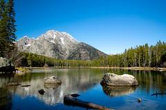 Mt Moran from Leigh Lake (SaunTek) Tags: grand teton national park wyoming mount moran leigh lake landscape