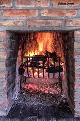 Preparando el fueguito (© hacfoto) Tags: parrilla carbón leña asado fuego