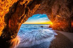 Nikon D850 Malibu Sea Cave Sunset Fine Art California Coast Beach Landscape Seascape Photography! Nikon D850 & AF-S NIKKOR 14-24mm F2.8G ED from Nikon! High Res 4k 8K Photography! Dr. Elliot McGucken Fine Art Pacific Ocean Sunset! (45SURF Hero's Odyssey Mythology Landscapes & Godde) Tags: nikon d850 malibu sea cave sunset fine art california coast beach landscape seascape photography afs nikkor 1424mm f28g ed from high res 4k 8k dr elliot mcgucken pacific ocean