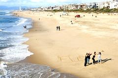 beach (greenelent) Tags: beach manhattanbeach ca people california pacificocean ocean