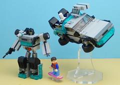 Autobot Flashback (Hobbestimus) Tags: lego moc 80s toys backtothefuture delorean timemachine martymcfly transformers cartoon movie