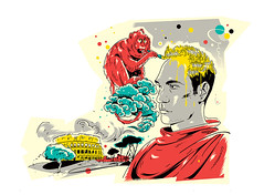 Illustration for «GQ Russia» (depingo.ru@gmail.com) Tags: hair monkey china rome newlook newstyle illustration