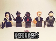 Defenders (bagira.norm2) Tags: legodefenders colors color photography photo collection custom display art fist iron daredevil rand danny murdock matt matthew jones jessica cage luke superheroes comics netflix marvel defenders defend minifigures lego