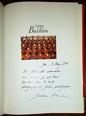 Living Buddism sig page (hoffman) Tags: davidhoffman inscribed grahamharrison photobook livingbuddhism titlepage wwwhoffmanphotoscom
