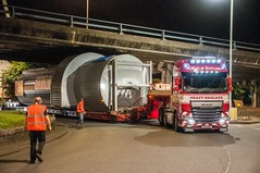 West Of Scotland Heavy Haulage CA11 WSH (Scottish Photography Productions | David Pollock) Tags: viridor west of scotland daf xf euro 6 6x4 ca11 wsh polmadie lodge cottrell scheuerle 4 row vessel bridge glasgow energy from waste efw night photography pr press low light