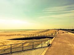 St Mary's Bay (MacBeales) Tags: empty wide quiet holiday memories sea sky walkway promenade iphone apple dymchurch uk stmary'sbay kent beach