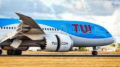 TUI | G-TUIE | Boeing 787-8 | BGI (Terris Scott Photography) Tags: aircraft airplane aviation plane spotting nikon d750 f28 travel barbados jet jetliner tui fly 7878 tamron 70200mm di vc usd g2 grass dreamliner