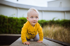 Discover the world (solomiya.p) Tags: babyboy child motor club outdoor outside good vibes yellow blue eyes happy smile day suumertime wild discover kids kid discovery litt childhood