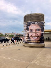 DCA airport tower wraps for Wells Fargo