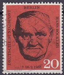 Deutsche Briefmarken (micky the pixel) Tags: briefmarke stamp ephemera deutschland bundespost berlin hansböckler politiker gewerkschaftsführer