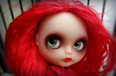 Lucie (Motor City Dolly) Tags: custom blythe doll pale translucent red hair mohair reroot