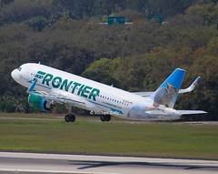 """Frontier                            Airbus A320                             N331FR """"Choo The Pika"""" (Flame1958) Tags: a320 n331fr choothepika 98632 321 frontier frontierairbus airbus tpa ktpa tampaairport tampa wildlife 240219 0219 2019"""