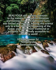 "@nithyanandaswami - CARYA... MEANS LIFESTYLE OR BEHAVIOUR. Nithyananda Yoga is not a lifestyle for health but a lifestyle to build ""SUPERHUMAN"" yogic physiology, experience exuberant bliss and manifest extraordinary powers and possibilities. Nithyananda Y (sri.sadyojata) Tags: enlightenment consciousness awakening integrity responsibility enriching authenticity transformation yoga meditation"