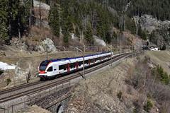SBB RABe 523 004, Wassen (moritzspotter) Tags: sbbcffffs sbahn stadlerrail stadlerflirt rabe523 stadtbahnzug wassen uri switzerland gotthardbahn