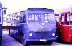 Slide 135-02 (Steve Guess) Tags: addlestone surrey england gb uk lbpt cbm bus coop car park mod raf bedford sb q561gfr sb3 strachans pacesaver royalairforce