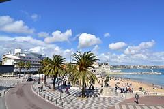 Praia dos Pescadores (pedrik) Tags: cascais portugal d7200 tokinaaf1116mmf28 tokinaatx116prodx sooc beach sky clouds palm trees road