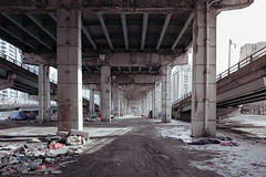 passage. (jonathancastellino) Tags: toronto architecture gardiner leica q infrastructure pillar freeway beneath passage