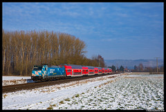 DB Regio 146 246, Retzbach 07-02-2018 (Henk Zwoferink) Tags: zellingen bayern germany de retzbach 07022018 db regio henk zwoferink traxx bombardier