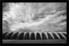 Sony A7R IR,Tazacorte harbour, La Palma, Canary Islands (Dierk Topp) Tags: a7r bw ilce7r ir sonya7rir canaryislands clouds harbour infrared infrarot islascanarias lapalma monochrom sw sony architecture