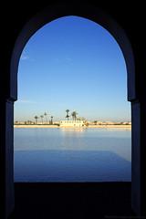 Menara Pavilion / Vista (Images George Rex) Tags: 9105cdb5ee3647a98c90448f6731e879 marrakech marrakeshsafi ma pavilion menaragardens jardinmenara minzah lake photobygeorgerex imagesgeorgerex marrakesh morocco maroc المملكةالمغربية ⵜⴰⴳⵍⴷⵉⵜⵏⵍⵎⴰⵖⵔⵉⴱ x100s arch landscapearchitecture حدائقالمنارة blue jardindemenara