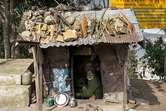 His home (Dick Verton ( more than 13.000.000 visitors )) Tags: devghat nepal asia hut living sitting man traveling streetimage streetview people sit seated