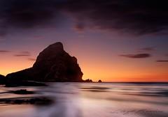 Sunset Explosion (lightmunkey) Tags: fujifilm xseries fujinon landscapes seascapes long exposure longexposure travel sunset piha newzealand beach water