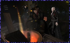 Aqualung Series ~ Discovered - Bait & Stake (0rco) Tags: goth gothic vampire stake fire atmospheric secondlife night trespass prey comedy blackcomedy darkness