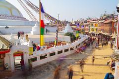 Pilgrims' rush (kangxi504) Tags: boudhanath kathmandu nepal asia stupa buddhism