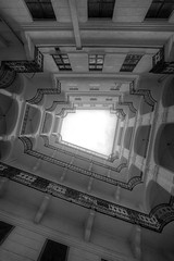 'Up' (Timster1973 - thanks for the 16 million views!) Tags: black white blackandwhite bw mono monochrome budapest architectural architecture building alwayslookup perspective timknifton timster1973 canon structure stairs balcony composition